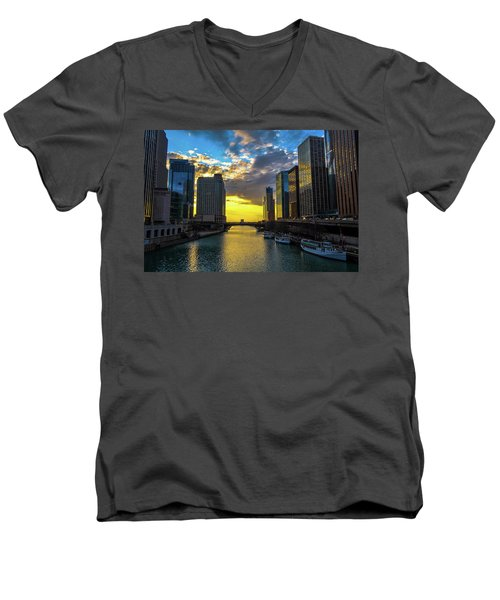 Onto The Lake Men's V-Neck T-Shirt