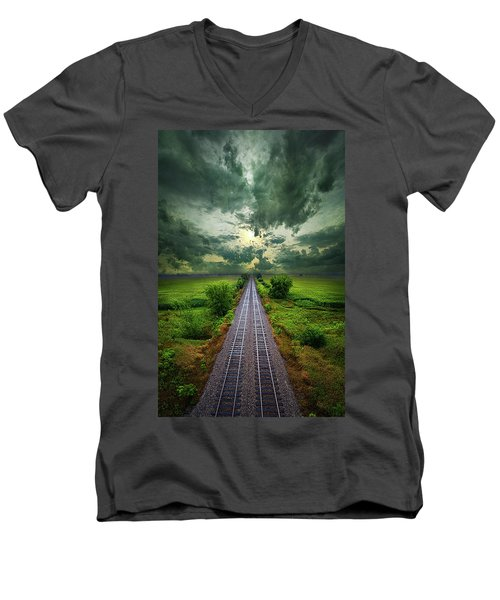 Onward Men's V-Neck T-Shirt by Phil Koch