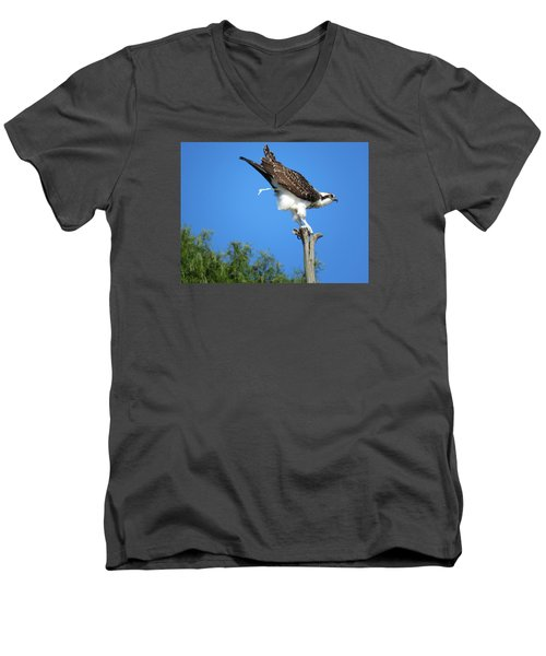 Men's V-Neck T-Shirt featuring the photograph Oops by Phyllis Beiser