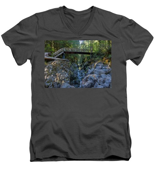 Opal Creek Bridge Men's V-Neck T-Shirt