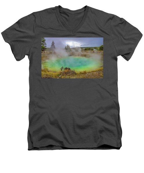 Opal Spring Yellowstone National Park Men's V-Neck T-Shirt