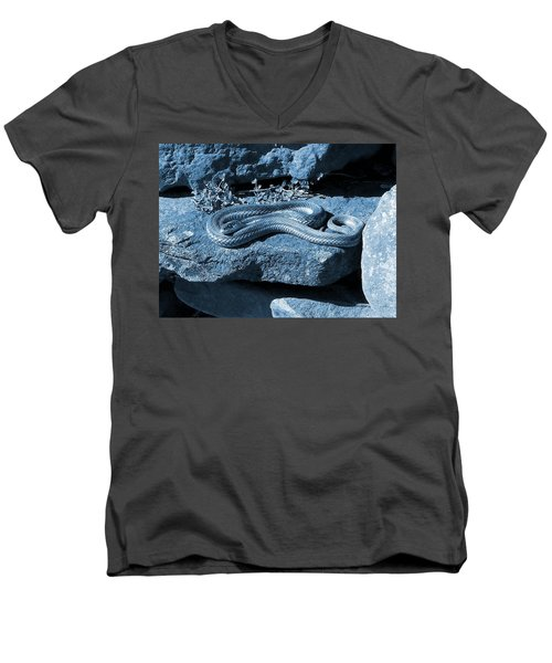 Opaque Garter Snake Men's V-Neck T-Shirt