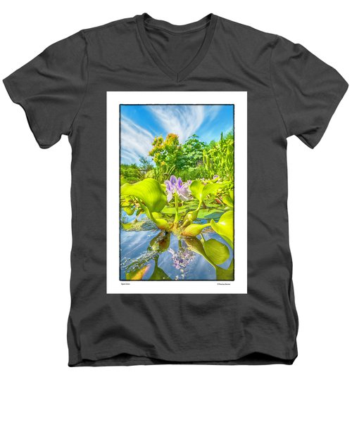 Men's V-Neck T-Shirt featuring the photograph Open Arms by R Thomas Berner