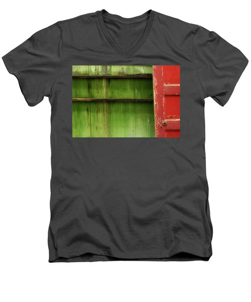 Men's V-Neck T-Shirt featuring the photograph Open Door by Mike Eingle
