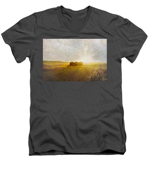 Open Spaces Men's V-Neck T-Shirt