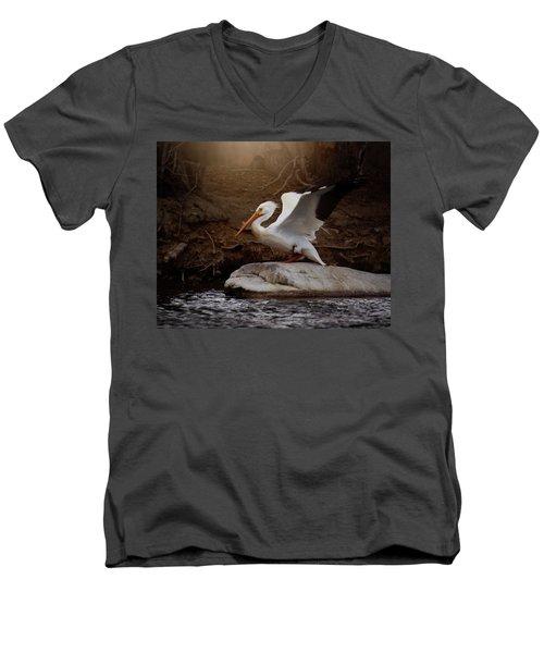 Open Wings Men's V-Neck T-Shirt