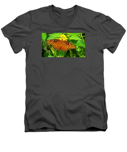 Open Wings Men's V-Neck T-Shirt by Judy Wanamaker