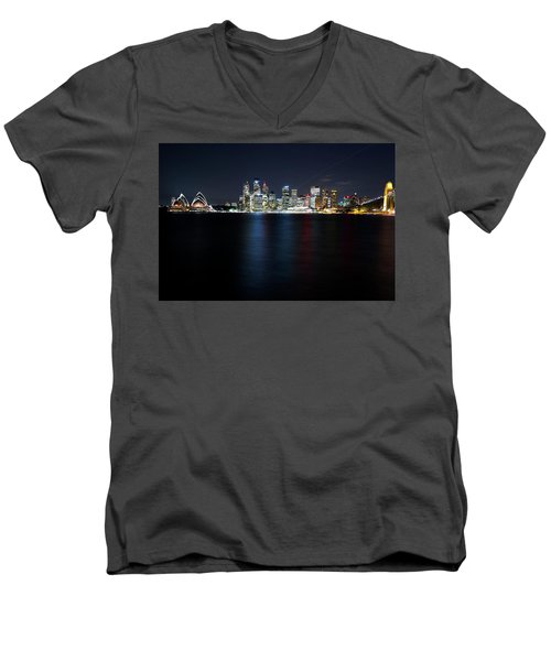 Harbour Streak Men's V-Neck T-Shirt
