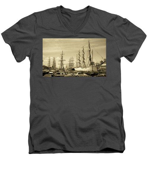 Operation Sail 1992 Brooklyn Men's V-Neck T-Shirt by John Schneider