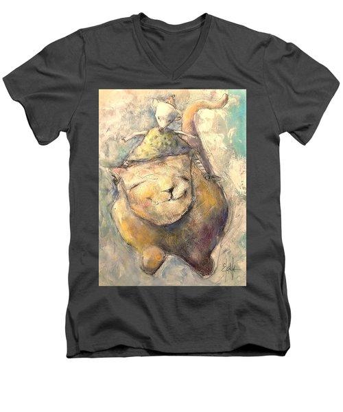 Opposites Attract Men's V-Neck T-Shirt