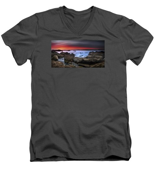 Men's V-Neck T-Shirt featuring the photograph Opposites Attract by John Chivers
