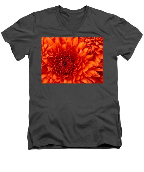Orange Bloom Men's V-Neck T-Shirt