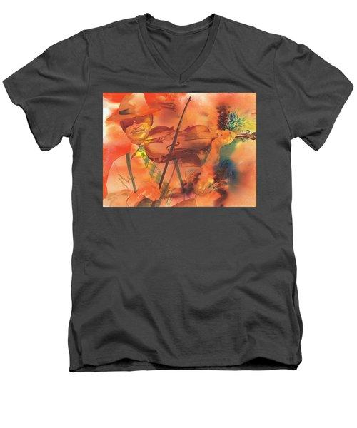 Orange Blossom Special Men's V-Neck T-Shirt by Tara Moorman