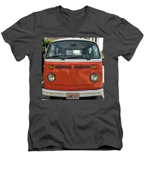 Orange Bus Men's V-Neck T-Shirt