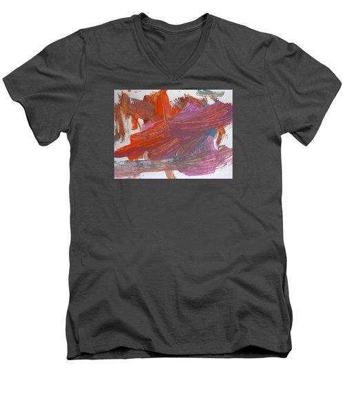 Orange By Emma Men's V-Neck T-Shirt by Fred Wilson