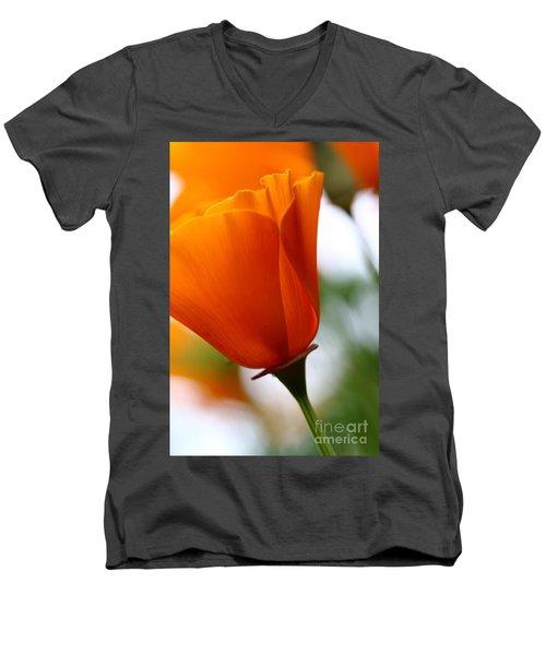 Orange California Poppy . 7d14789 Men's V-Neck T-Shirt