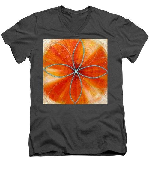 Orange Chakra Men's V-Neck T-Shirt