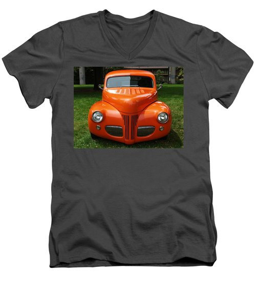Orange Classic  Men's V-Neck T-Shirt