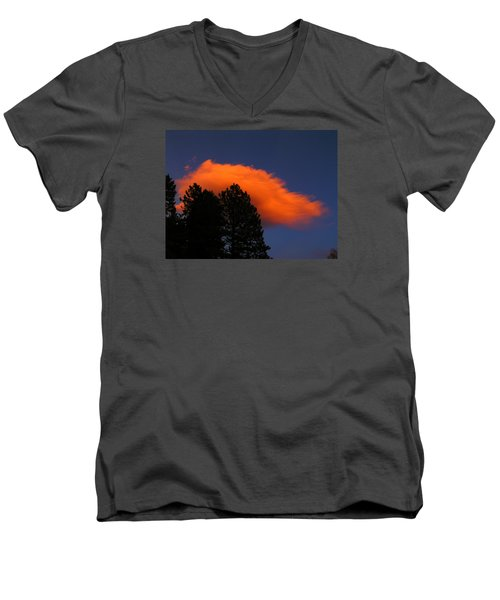Orange Cloud Men's V-Neck T-Shirt