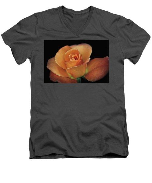 Orange Cream Men's V-Neck T-Shirt by Elaine Malott