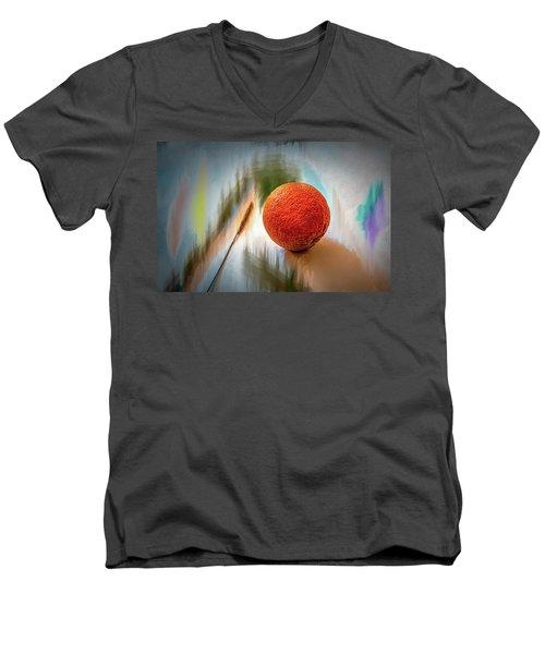 Orange #g4 Men's V-Neck T-Shirt