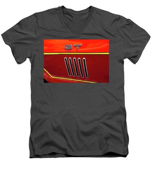 Orange Gt Men's V-Neck T-Shirt