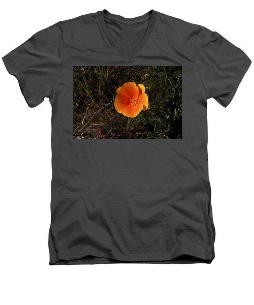 Orange Men's V-Neck T-Shirt