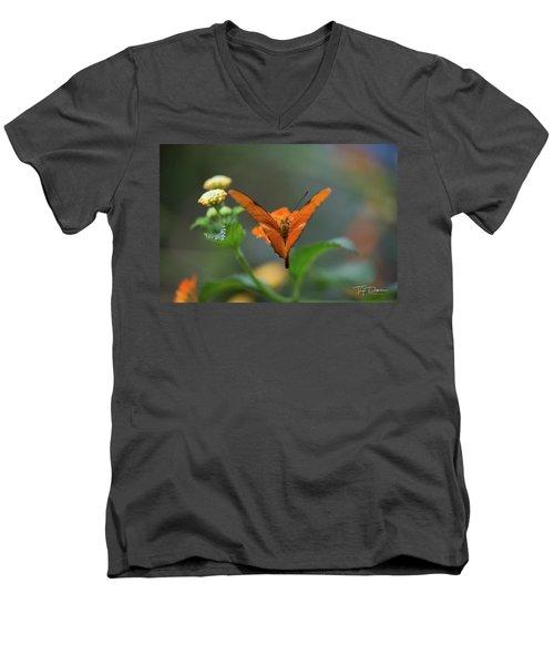 Orange Is The New Butterfly Men's V-Neck T-Shirt