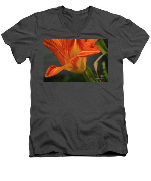 Orange Lily Men's V-Neck T-Shirt