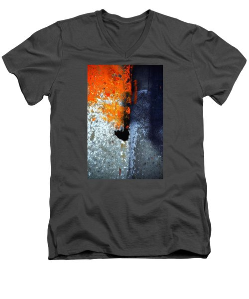 Orange Men's V-Neck T-Shirt by Newel Hunter
