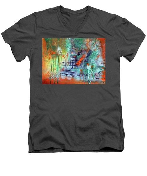 Orange Optimist Men's V-Neck T-Shirt