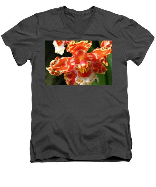 Orange Orchid Men's V-Neck T-Shirt