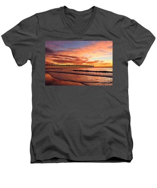 Orange Pier Men's V-Neck T-Shirt
