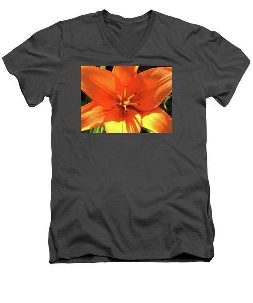 Orange Pop Men's V-Neck T-Shirt