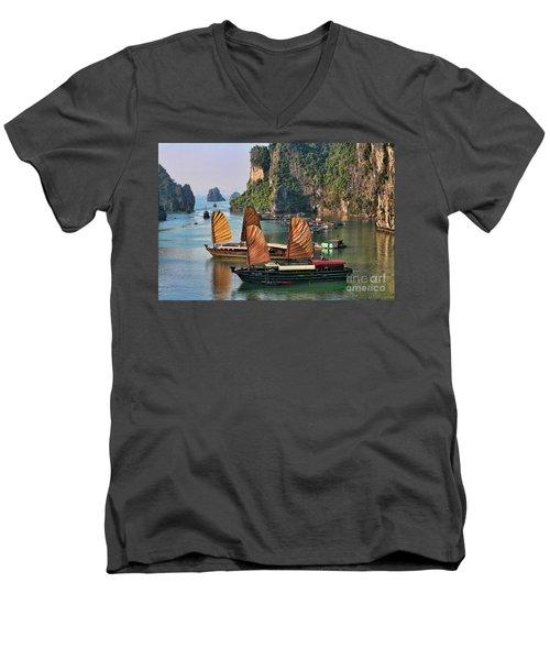 Orange Sails Asian Cruise Vietnam  Men's V-Neck T-Shirt