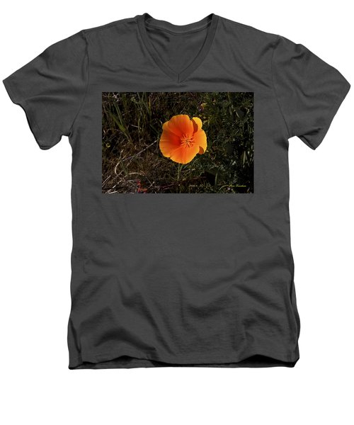Orange Signed Men's V-Neck T-Shirt
