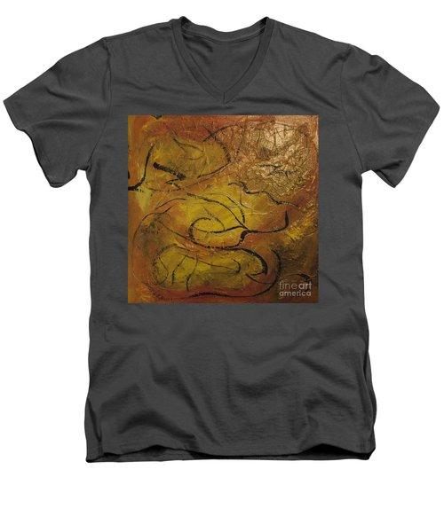 Orange Souffle Men's V-Neck T-Shirt