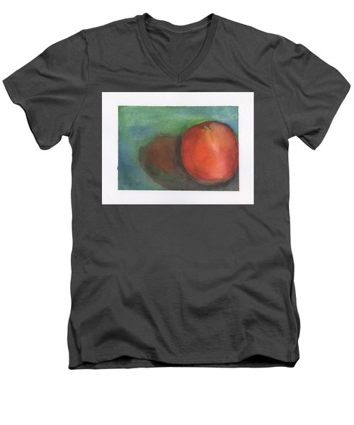 Men's V-Neck T-Shirt featuring the painting Orange Still Life by Frank Bright