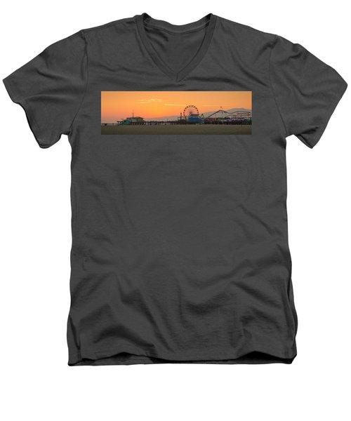 Orange Sunset - Panorama Men's V-Neck T-Shirt