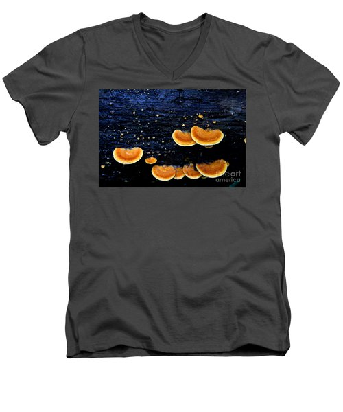 Orange Tree Fungus Men's V-Neck T-Shirt