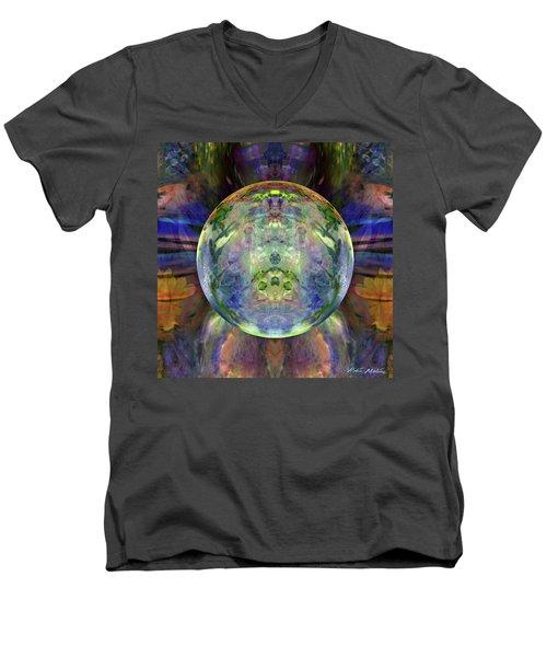 Orbital Symmetry Men's V-Neck T-Shirt by Robin Moline