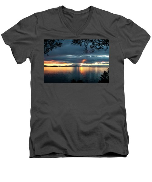Orcas Island Sunset Men's V-Neck T-Shirt