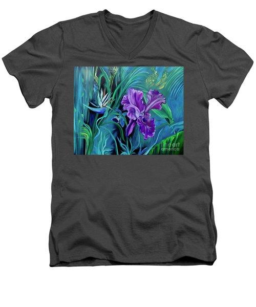 Orchid Jungle Men's V-Neck T-Shirt