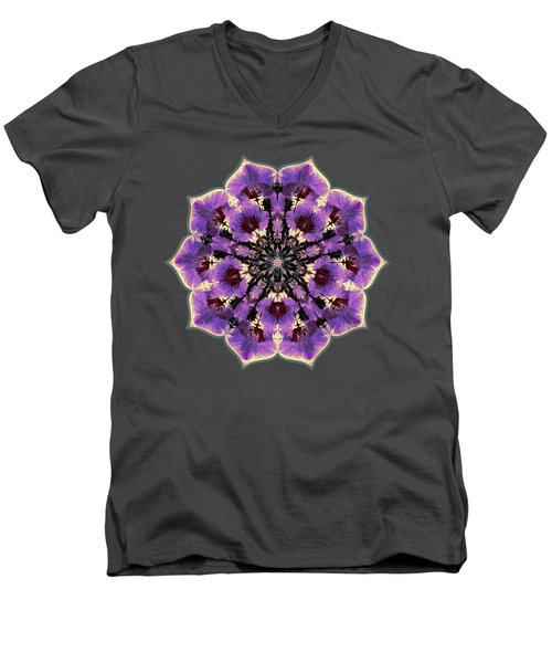 Orchid Lotus Men's V-Neck T-Shirt