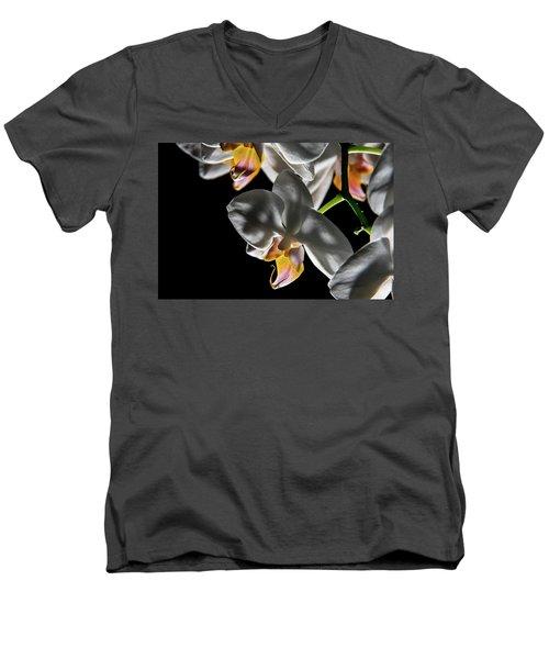 Orchid On Fire Men's V-Neck T-Shirt