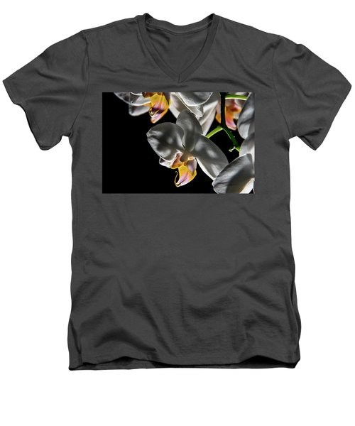 Orchid On Fire Men's V-Neck T-Shirt