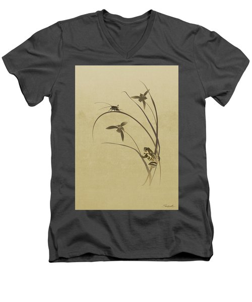 Orchid Sonata Men's V-Neck T-Shirt
