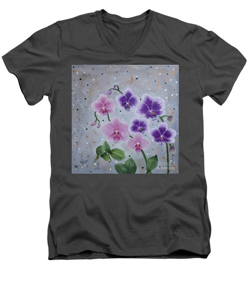 Orchids Galore Men's V-Neck T-Shirt