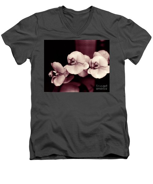 Men's V-Neck T-Shirt featuring the photograph Orchids Hawaii by Mukta Gupta