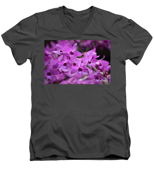 Orchids Paint Men's V-Neck T-Shirt